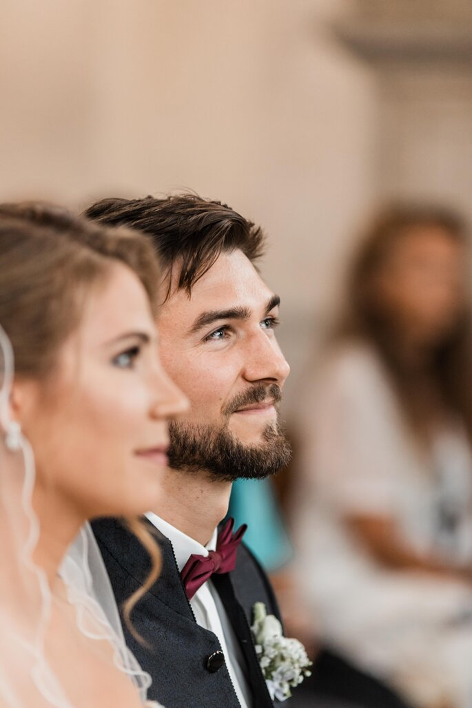 Trauung. Nahaufnahme Brautpaar während Trauung