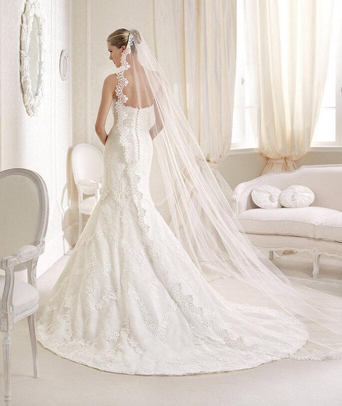 Robe de mariée Idalina de La Sposa 2014. Détails de dos. Photo: www.lasposa.info