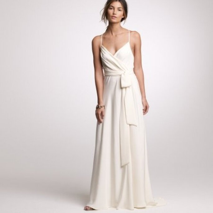 Silk Tricotine Goddess Gown