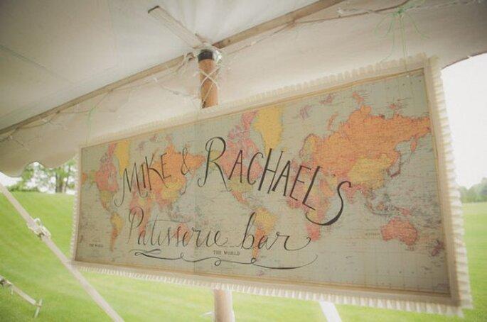 Decoración de boda inspirada en los viajes - Foto Stone Crandall Photography
