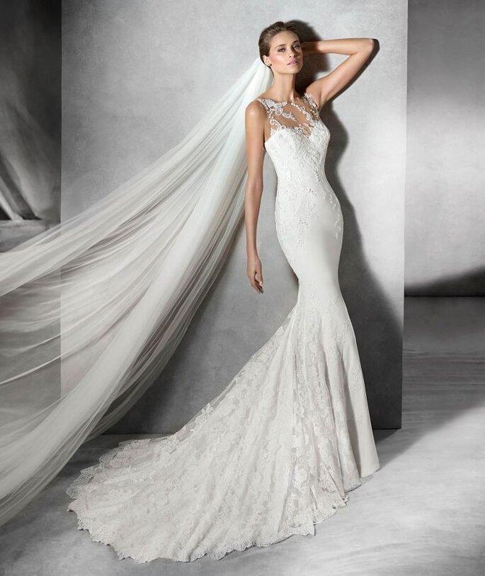 Pide cita para probarte este vestido de Pronovias