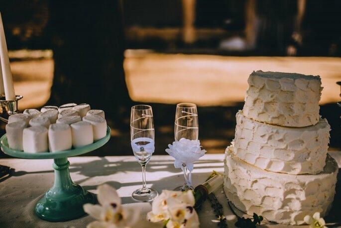 tarta de boda y dulces