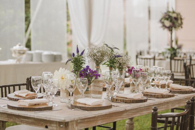 Decoración de mesa del banquete de boda