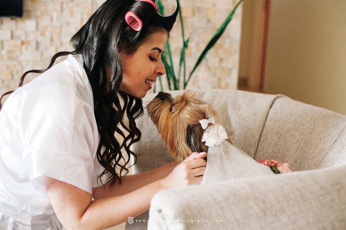 ensaio noiva cachorro