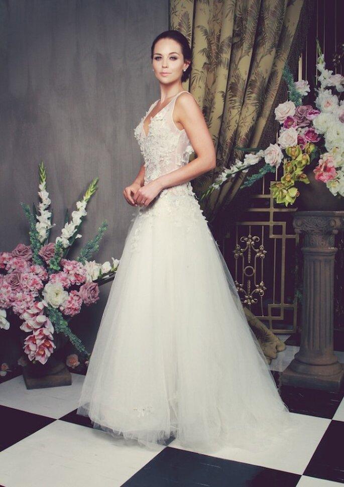 Vestidos de novia con apliques de flores y siluetas encantadoras - Foto Anna Georgina