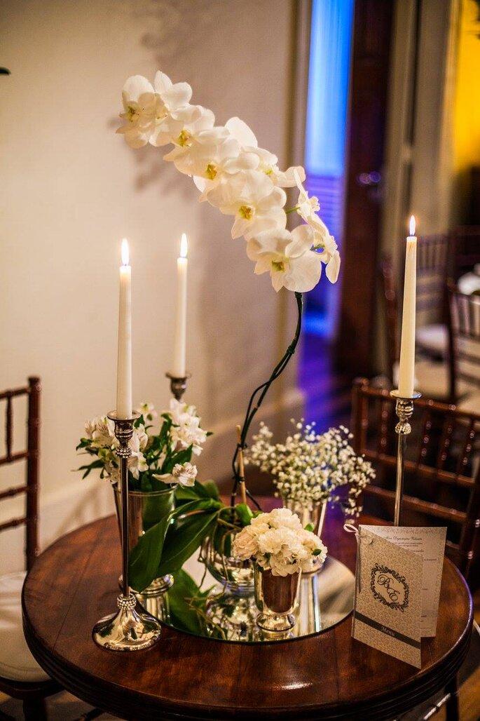 decoração casamento clássico mesa