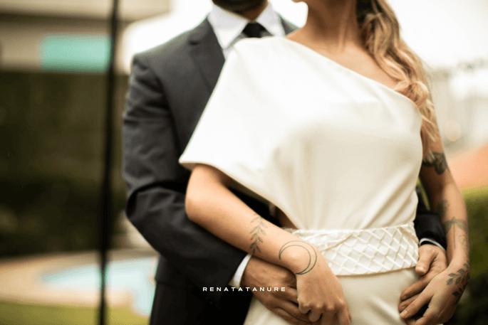Vestido sob medida assinado pela estilista Renata Tanure