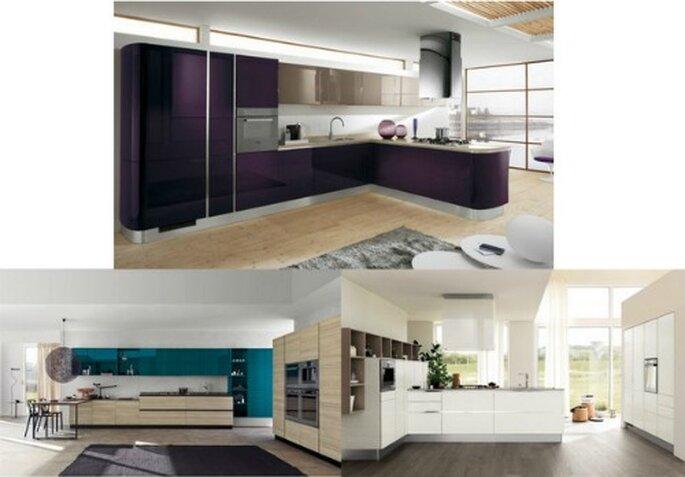 Con il modello Mood di Scavolini la cucina diventa a tutti gli effetti elemento di arredo.