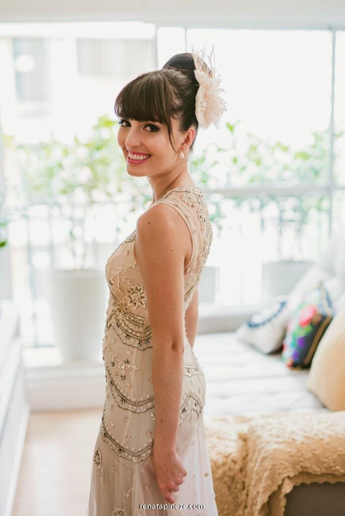Noiva Erica coque bailarina