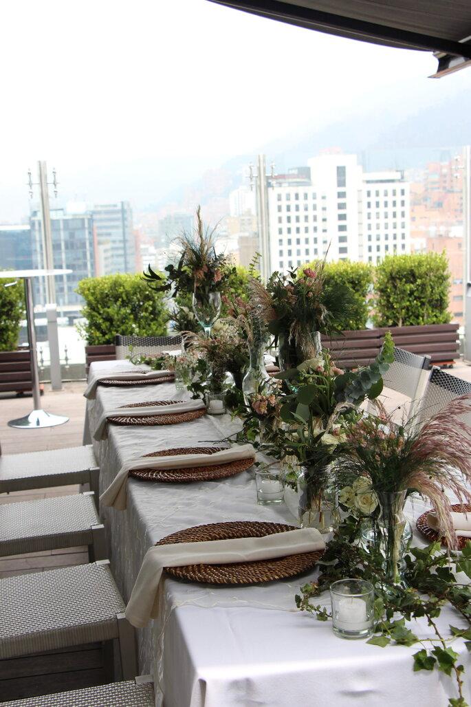 Hotel Hilton Bogotá boda en terraza
