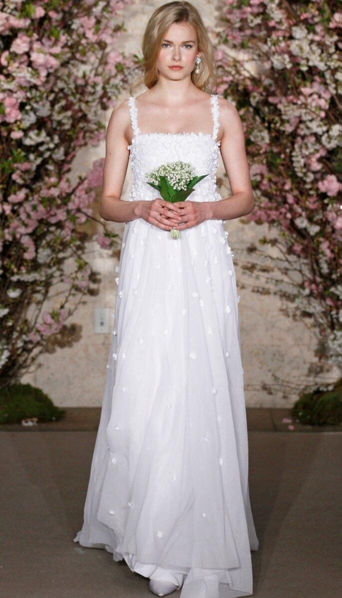 Vestido de novia corte imperio, Oscar de la Renta 2012
