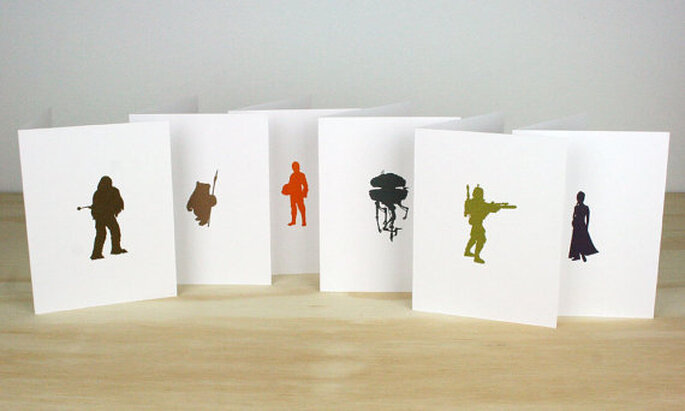foto 1 http://www.etsy.com/listing/112793278/star-wars-letterpress-cards-set-of-6 by greenbirdpress