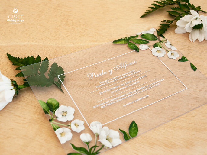 invitacion de boda transparente