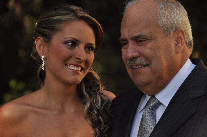 La novia con su padre, uno de los momentos irrepetibles en una boda. Foto: Lagus Media