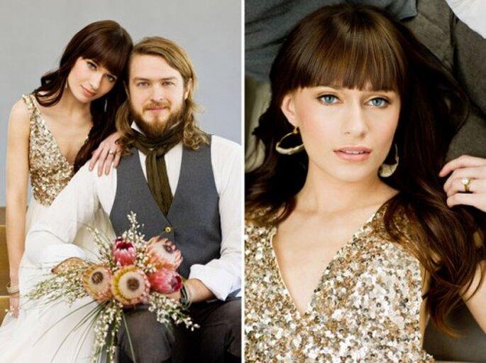 Animate a una boda con destellos dorados - Fotos: Green Wedding Shoes