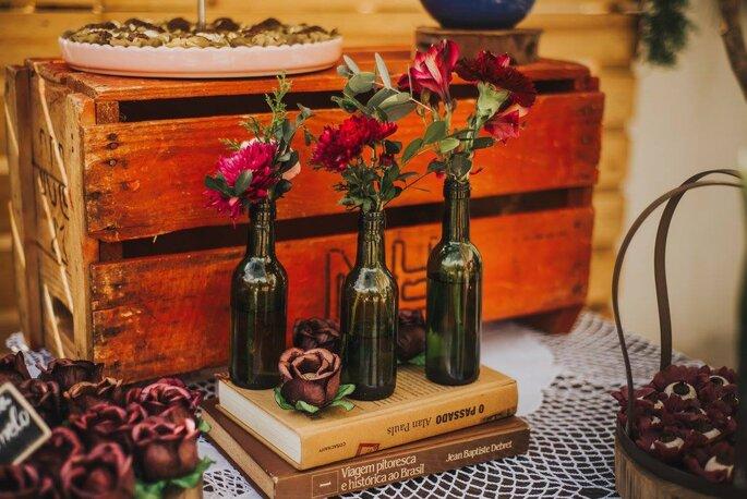 decoraçao com garrafas