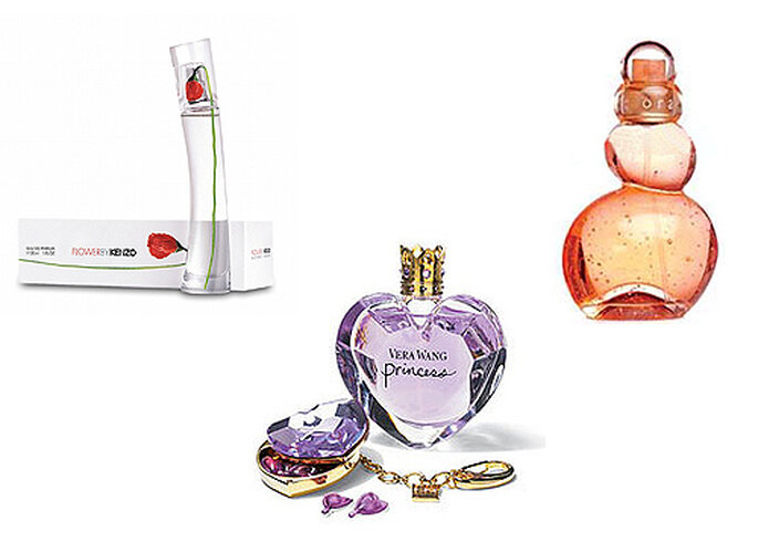 Tres perfumes para novias: 'Flower by Kenzo', 'Orange Tonic' de Azzaro y 'Princess' de Vera Wang