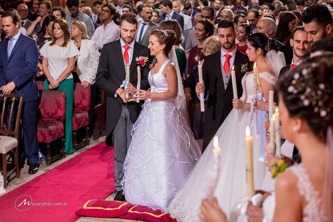 Noivas em casamento coletivo em portugal