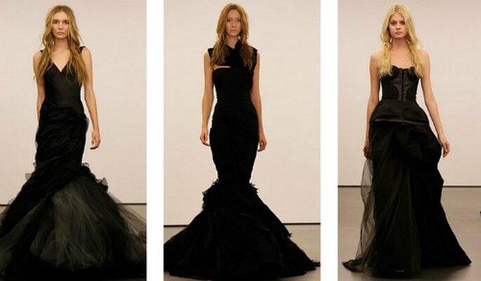 Il total black per l'abito da sposa può apparire una mossa azzardata. Ma non se dietro c'è la mente geniale di Vera Wang. Bridal Collection 2012