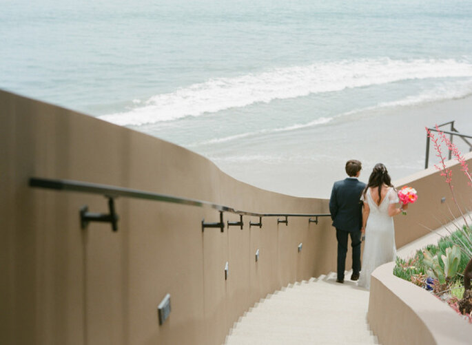 Real Wedding: Una boda real decorada en enigmático coral - Foto Esther Sun