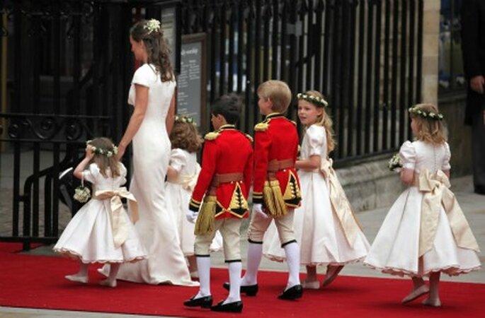 Es frecuente encontrarse con pajecitos en la boda