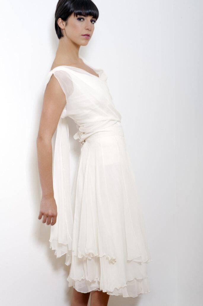 Robe de mariée courte - Odile Léonard 2012