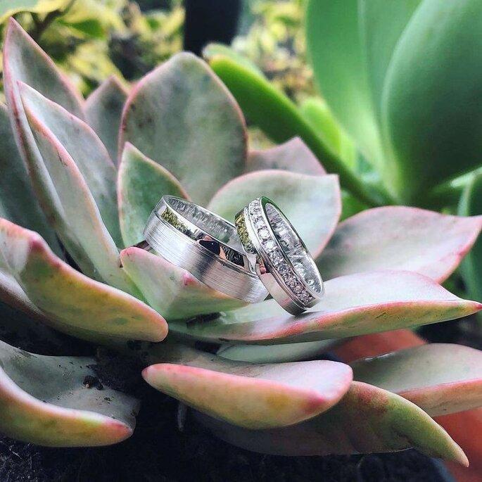 Argollas de matrimonio y anillos de compromiso