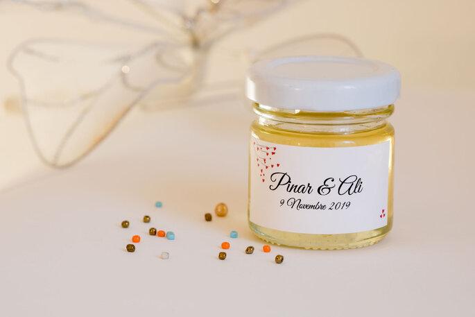 Mon Petit Pot de Miel à offrir en cadeau à votre invités pour célébrer votre beau jour