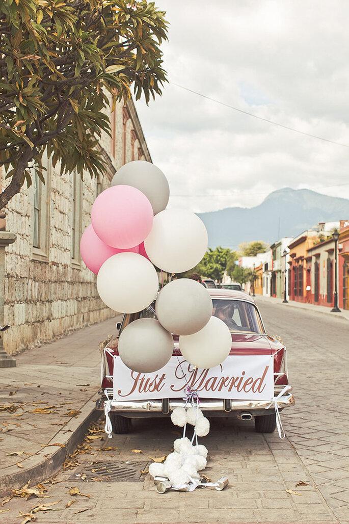 Luftballons als Hochzeitsdekoration