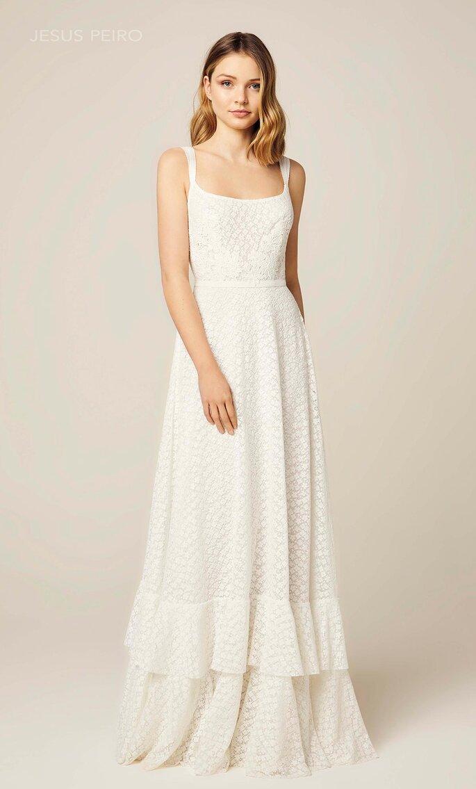 Vestido de novia escote cuadrado