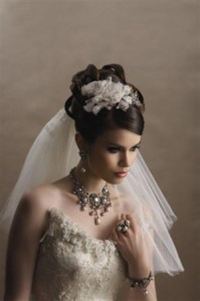 Brautschmuck und Schleier Vintage Stil