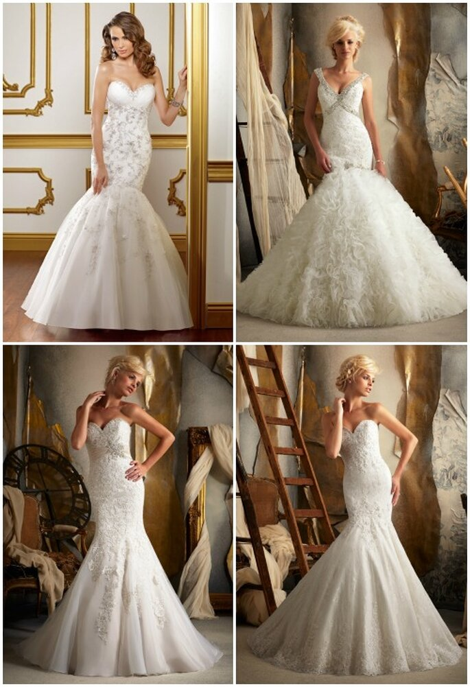 Quattro sensuali proposte a sirena. Mori Lee 2013 Bridal Collection. Foto: www.morilee.com
