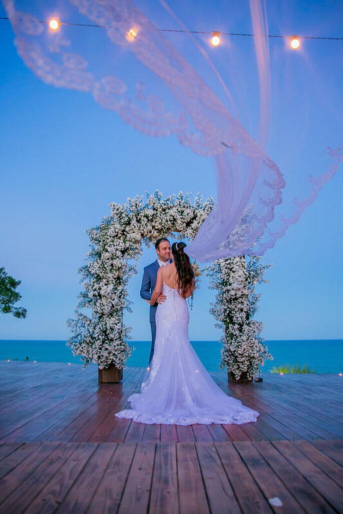 casamento de frente para o mar