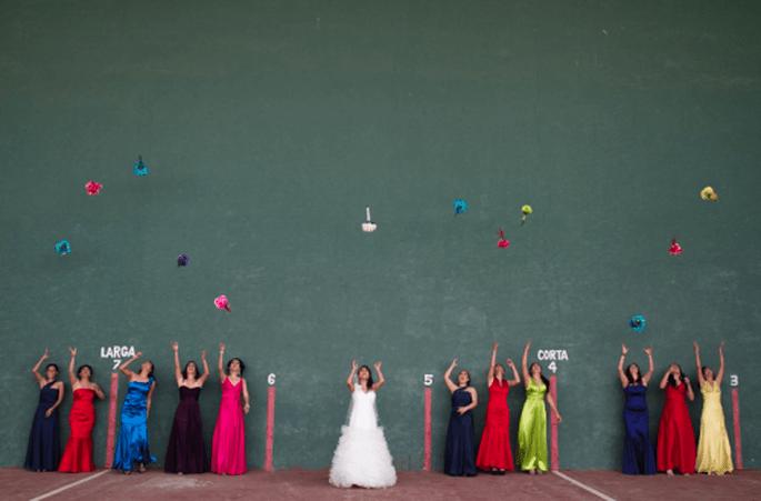 Damas de honor en la boda. Fotografìa Atlanta Studio