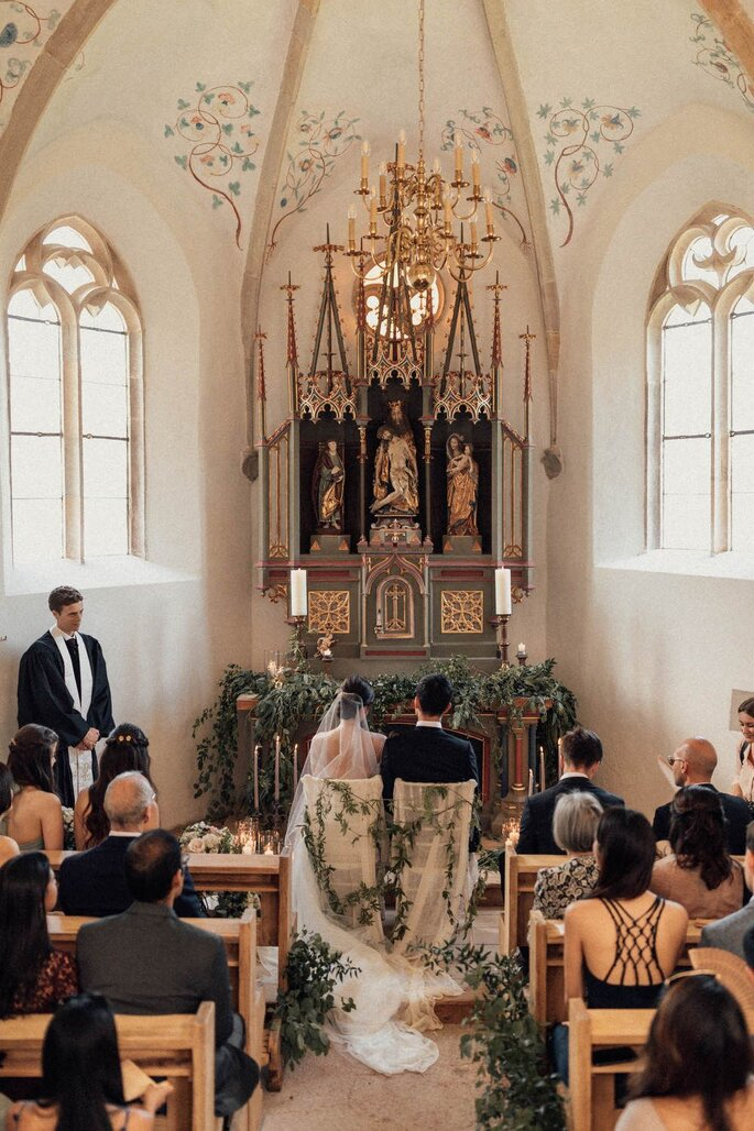 Kirchliche Trauung Zeremonie in Kirche