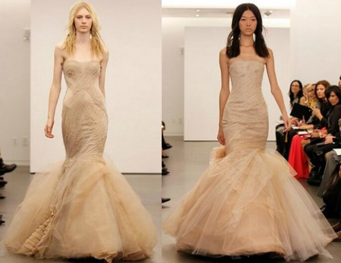 Stile sirena, corpetto che fascia il corpo. Questa è veramente una sposa sensuale! Vera Wang Bridal Collection 2012