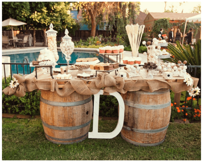 Decoración original para una boda vintage - Foto Jennifer Eileen