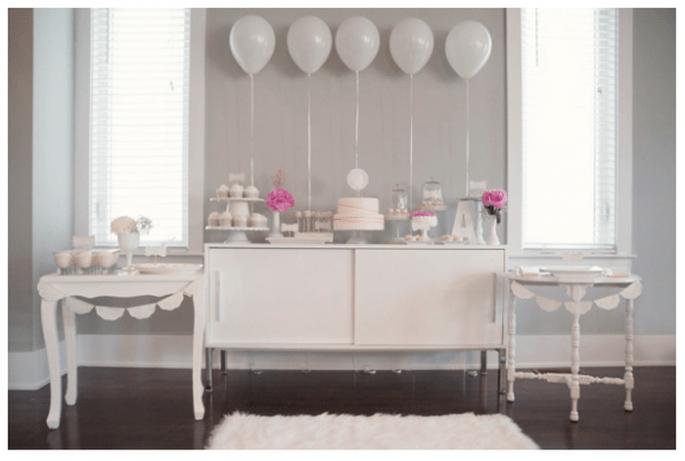 Decoración de boda con globos - Foto Natalia Spencer Photography