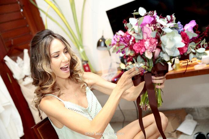 foto making of casamento