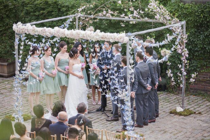 Decoracion Origami Matrimonio ~ Bodas reales delicada decoraci?n con origami para una boda urbana al