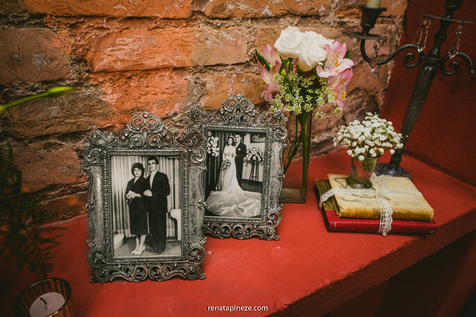 decoração casamento vintage