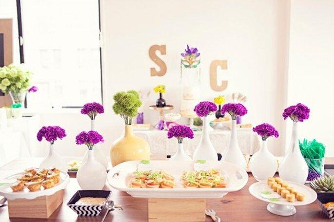 Brunch para el banquete de tu boda - Foto Amy Atlas Events