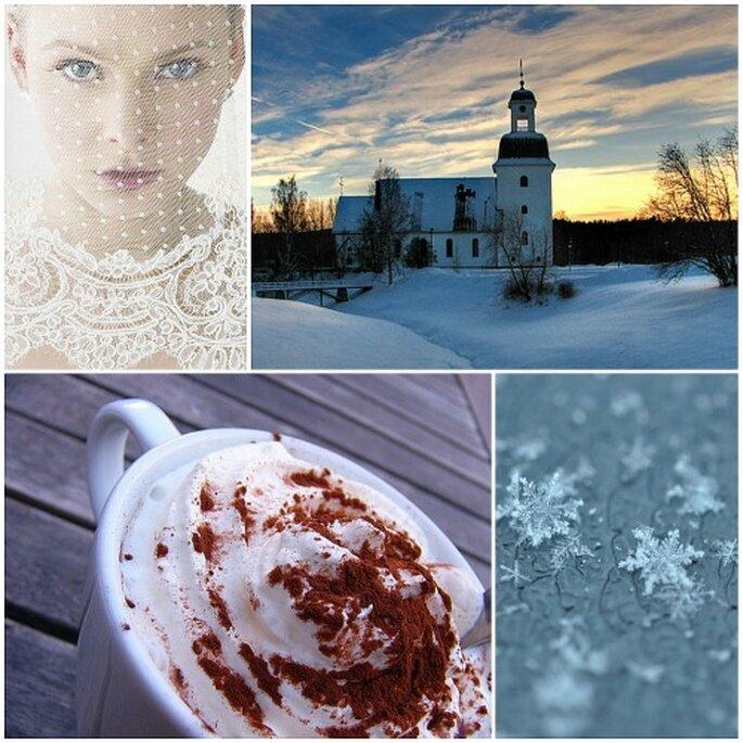 Chocolate caliente, copos de nieve y novias románticas: casarse en invierno está de moda