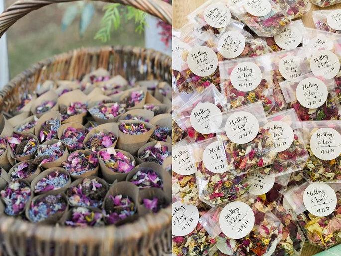 flores para atirar aos noivos na saida da cerimónia