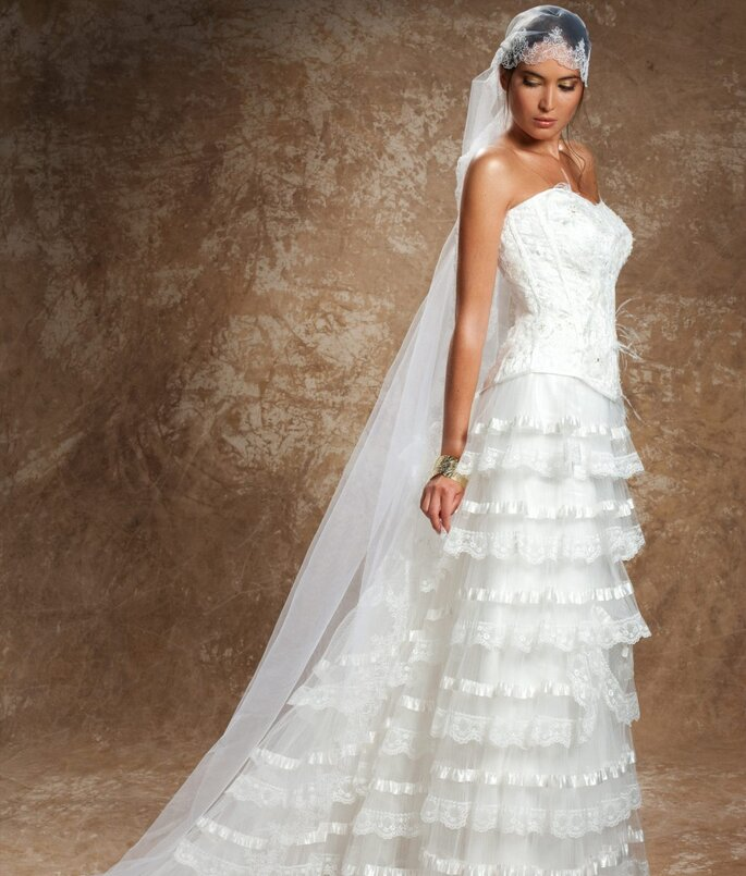 Robe de mariée Rosi Strella - Doux baiser froufrou