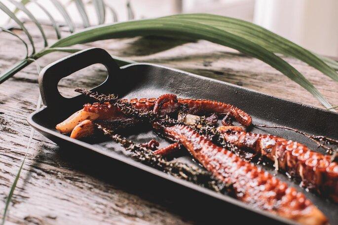 Calamars cuisinés au menu d'un mariage