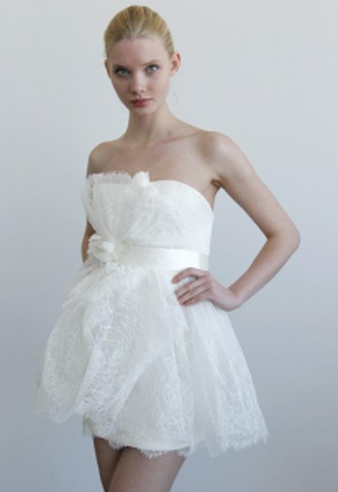 Vestido de Noiva Curto Marchesa 2011