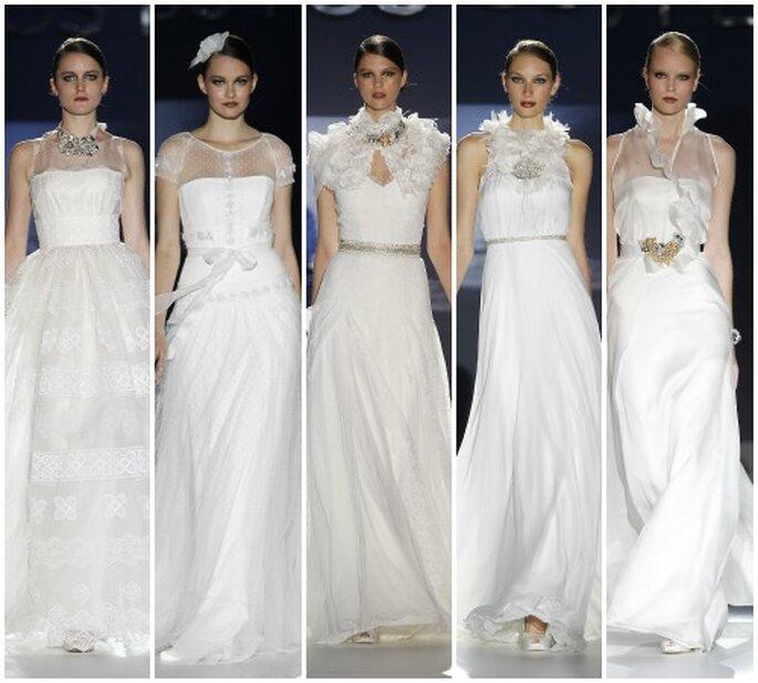 Una de nuestras preferidas: la colección-joya de Jesús Peiró 2013. Foto: Barcelona Bridal Week