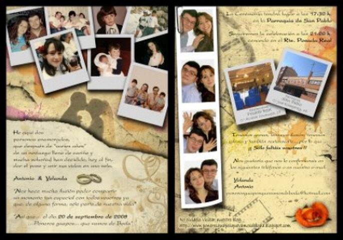 Invitación collage