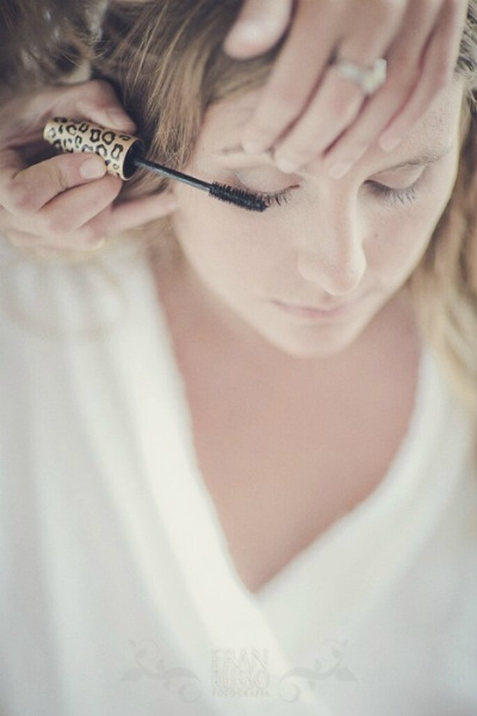 On the wedding day, it gives strength to his makeup. - Photo: Fran Russo